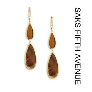 Saks Fifth Avenue • Tiger Eye Drop Earrings